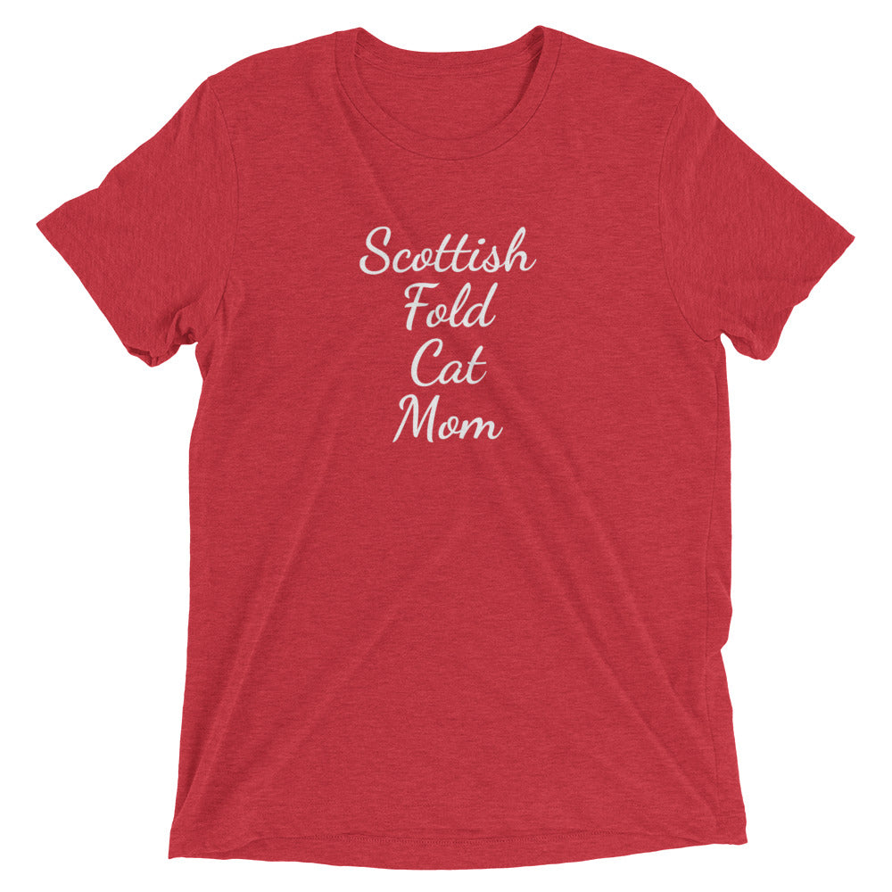 Scottish Fold Cat Mom T-Shirt