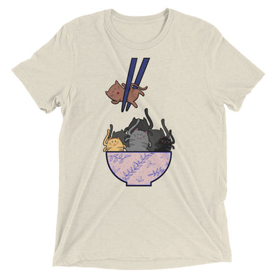Chopsticks Bowl of Cats T-Shirt
