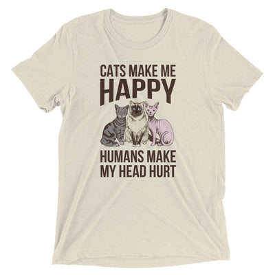 Humans Make Head Hurt Cat T-Shirt