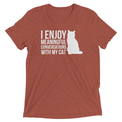 Meaningful Cat Conversations T-Shirt