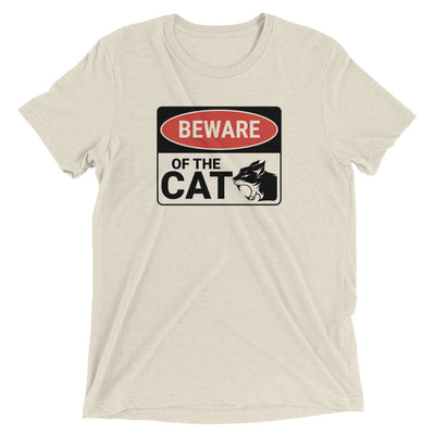 Beware of Cat Sign T-Shirt