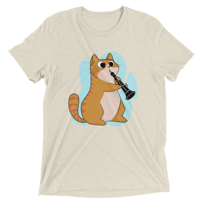 Clarinet Player Cat T-Shirt
