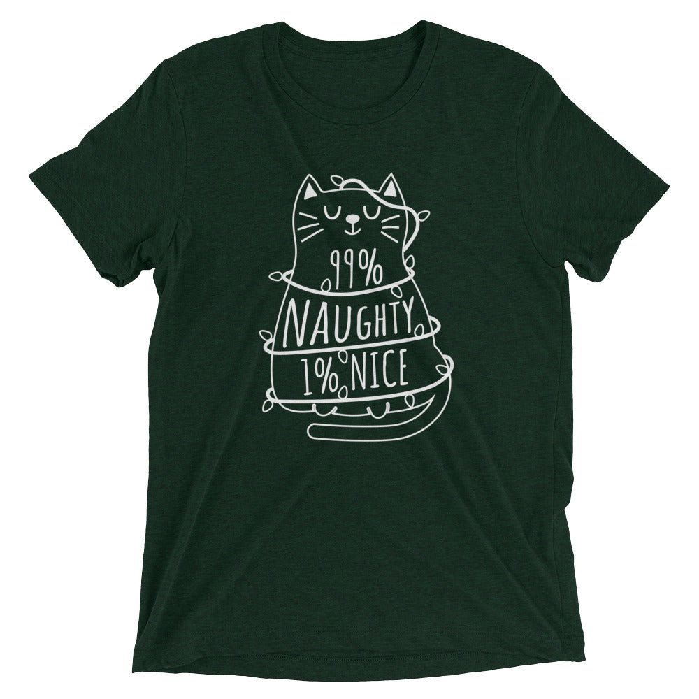 99% Naughty Christmas Cat T-Shirt