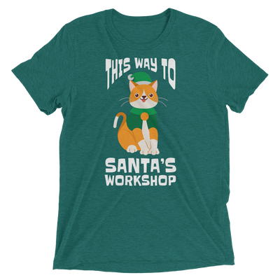 This Way to Santa's Workshop Christmas T-Shirt