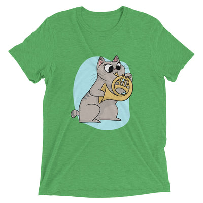 French Horn Player Cat T-Shirt