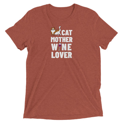 Cat Mother Wine Lover T-Shirt