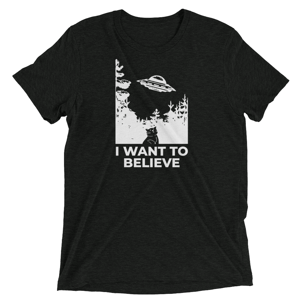 I Want To Believe Cat UFO Shirt