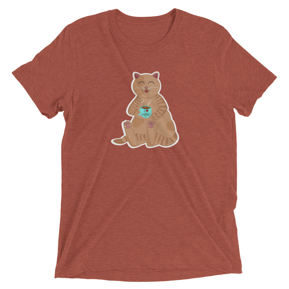 Cat Loving Coffee T-Shirt