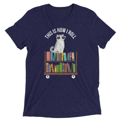 Library Cart Cat - This Is How I Roll T-Shirt