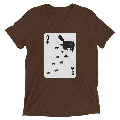Cat Nine of Clubs Card T-Shirt