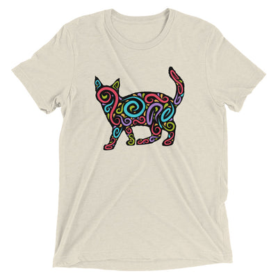 Color Swirl Cat T-Shirt