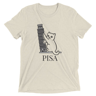 Leaning Tower of Pisa Cat T-Shirt