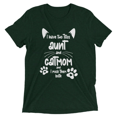 Aunt and Cat Mom T-Shirt