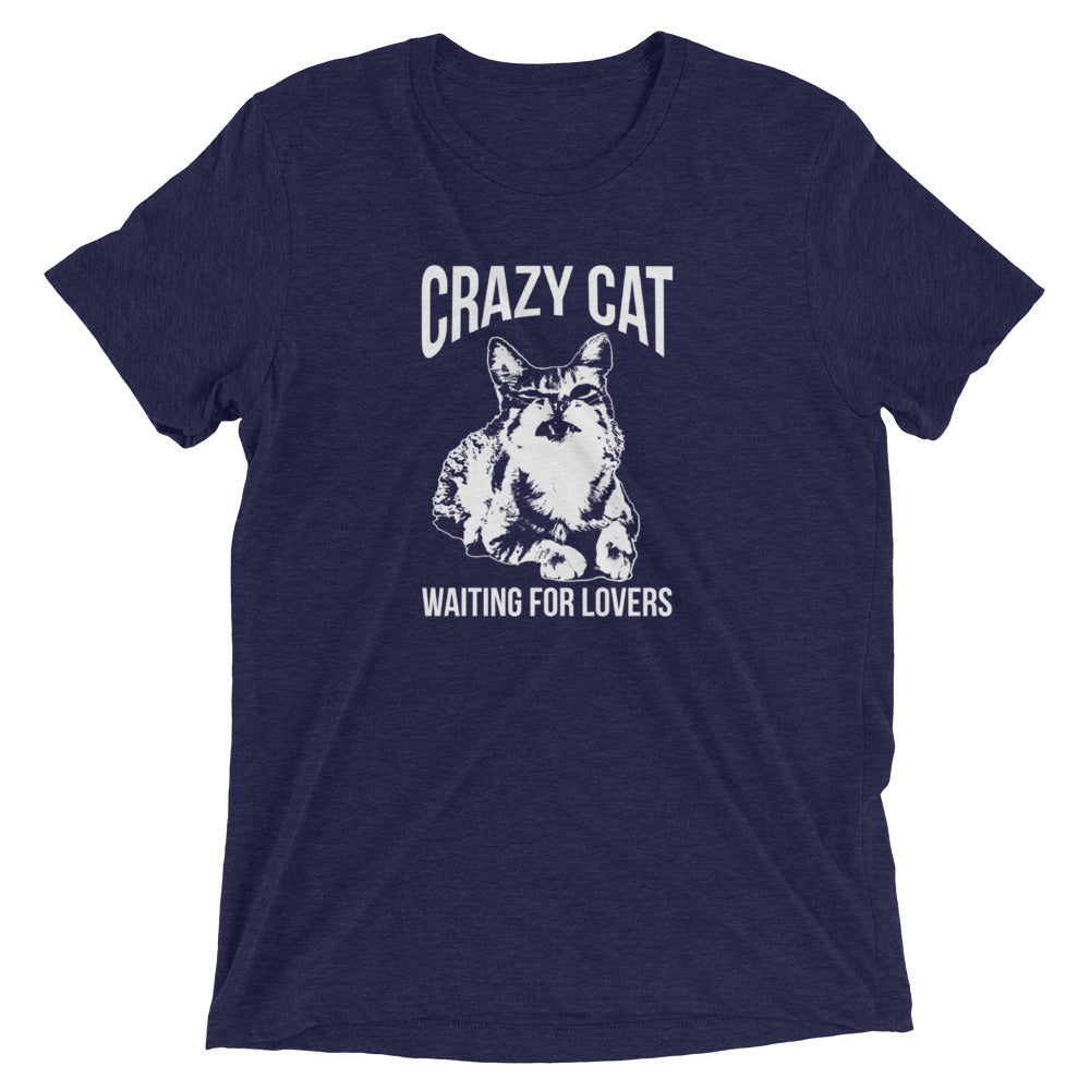 Crazy Cat Waiting for Lovers T-Shirt