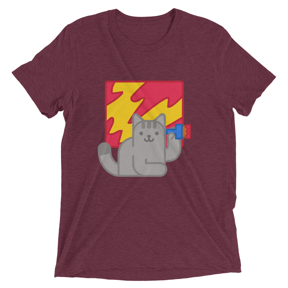 Modern Painting Cat T-Shirt