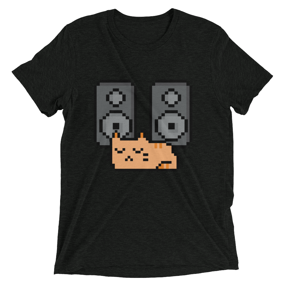 8-Bit Music Cat T-Shirt