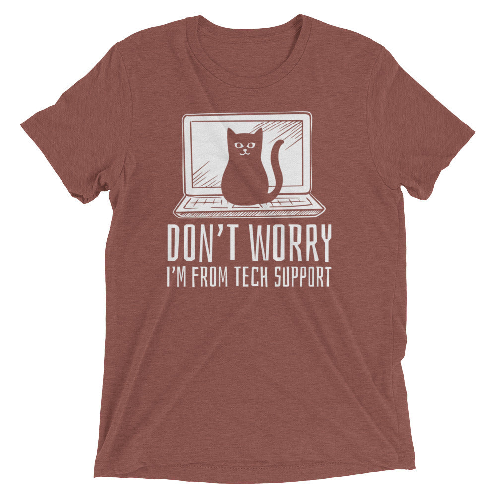 Tech Support Cat T-Shirt