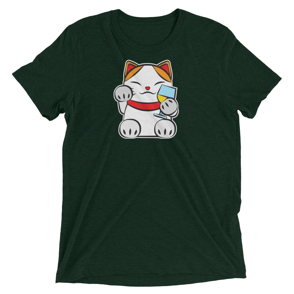 Lucky Cat #3: Wine Cat T-Shirt
