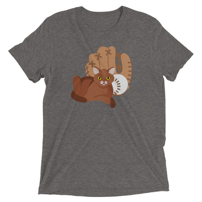 Baseball Cat with Glove T-Shirt