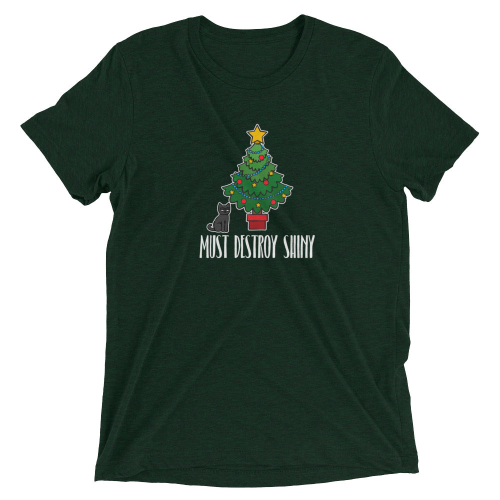 Cat Must Destroy Christmas Tree T-Shirt