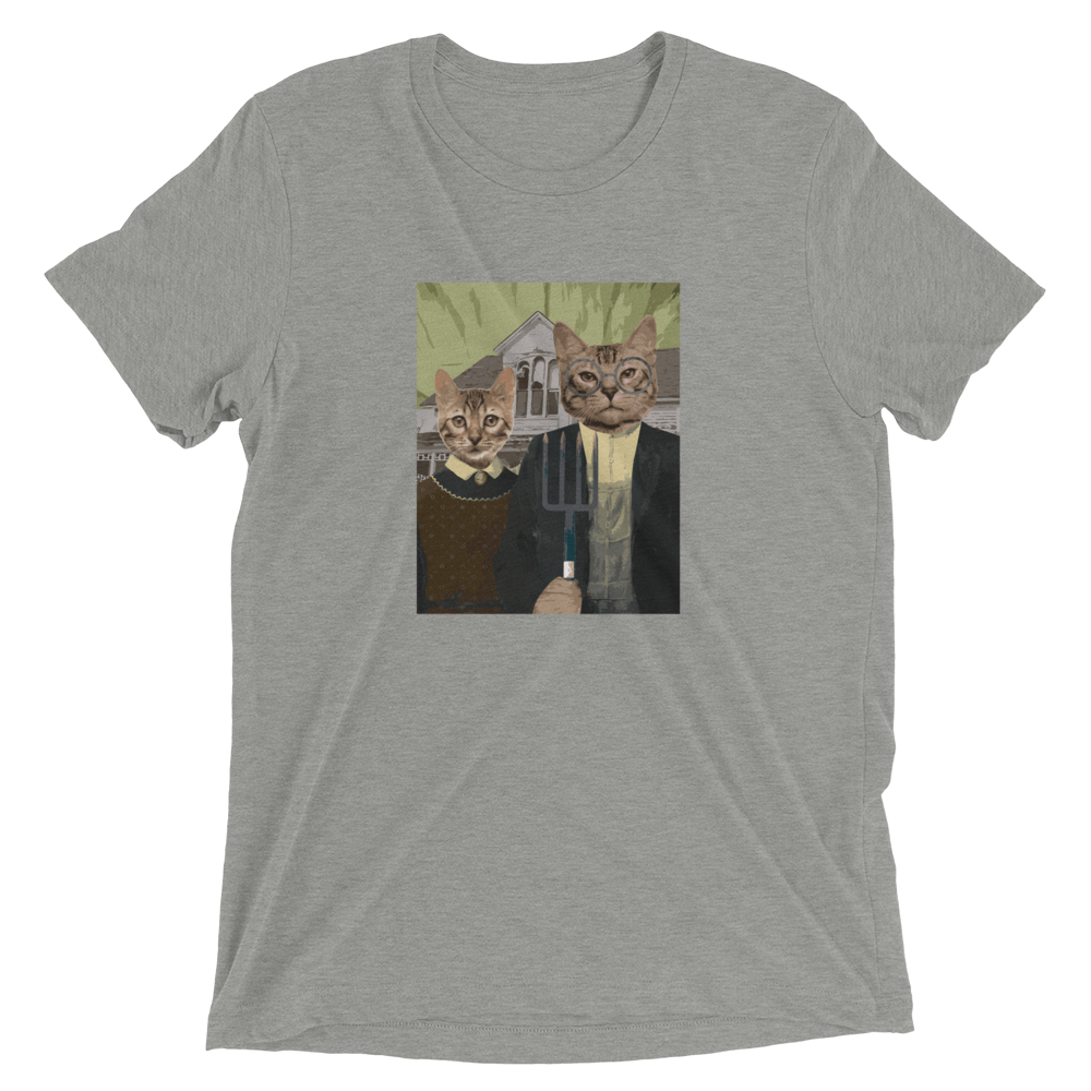 American Gothic Cat T-Shirt