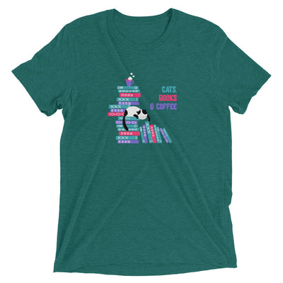 Cats, Books and Coffee T-Shirt