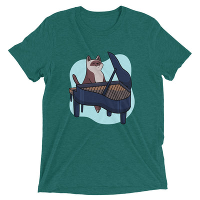 Piano Player Cat T-Shirt