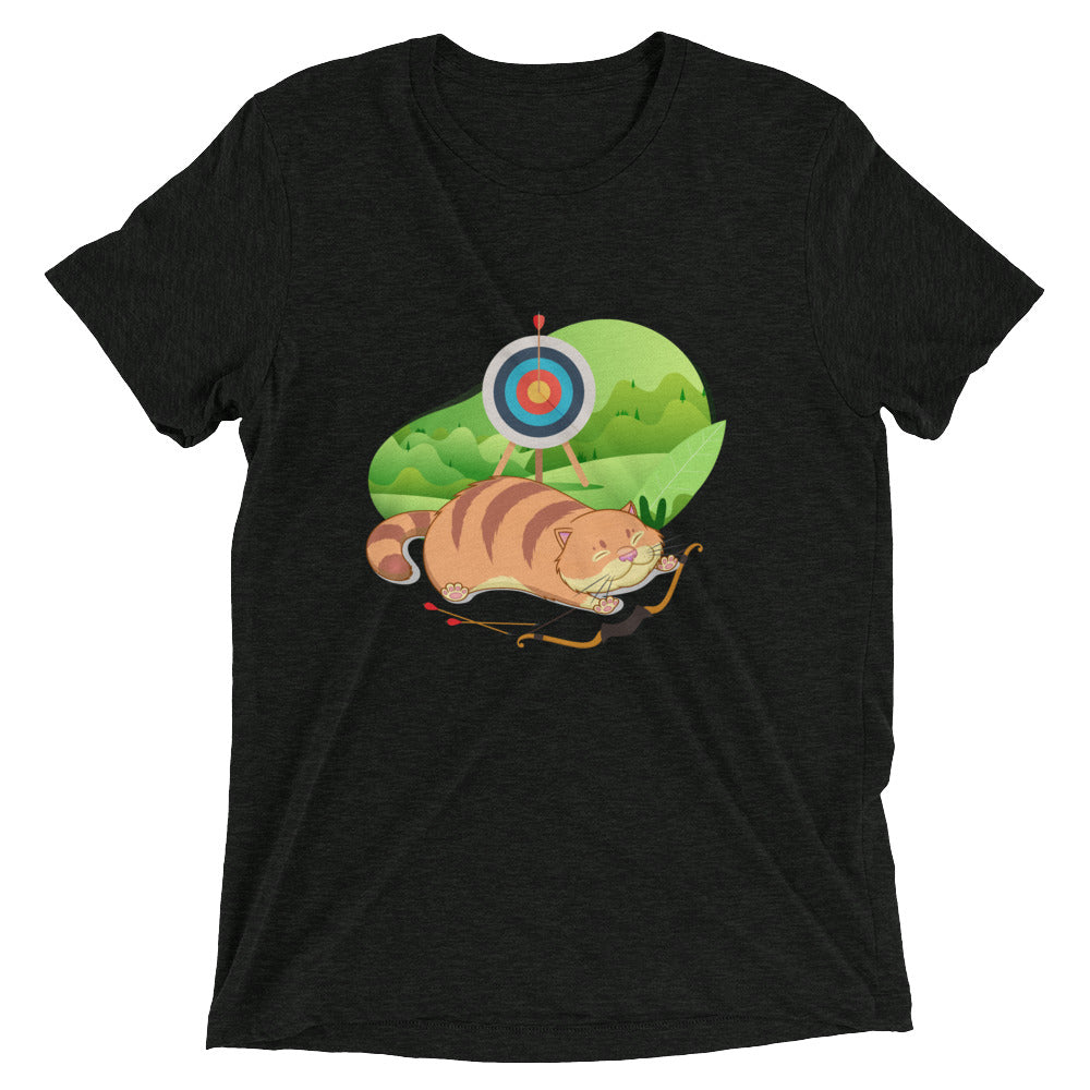 Stretching Archery Cat T-Shirt