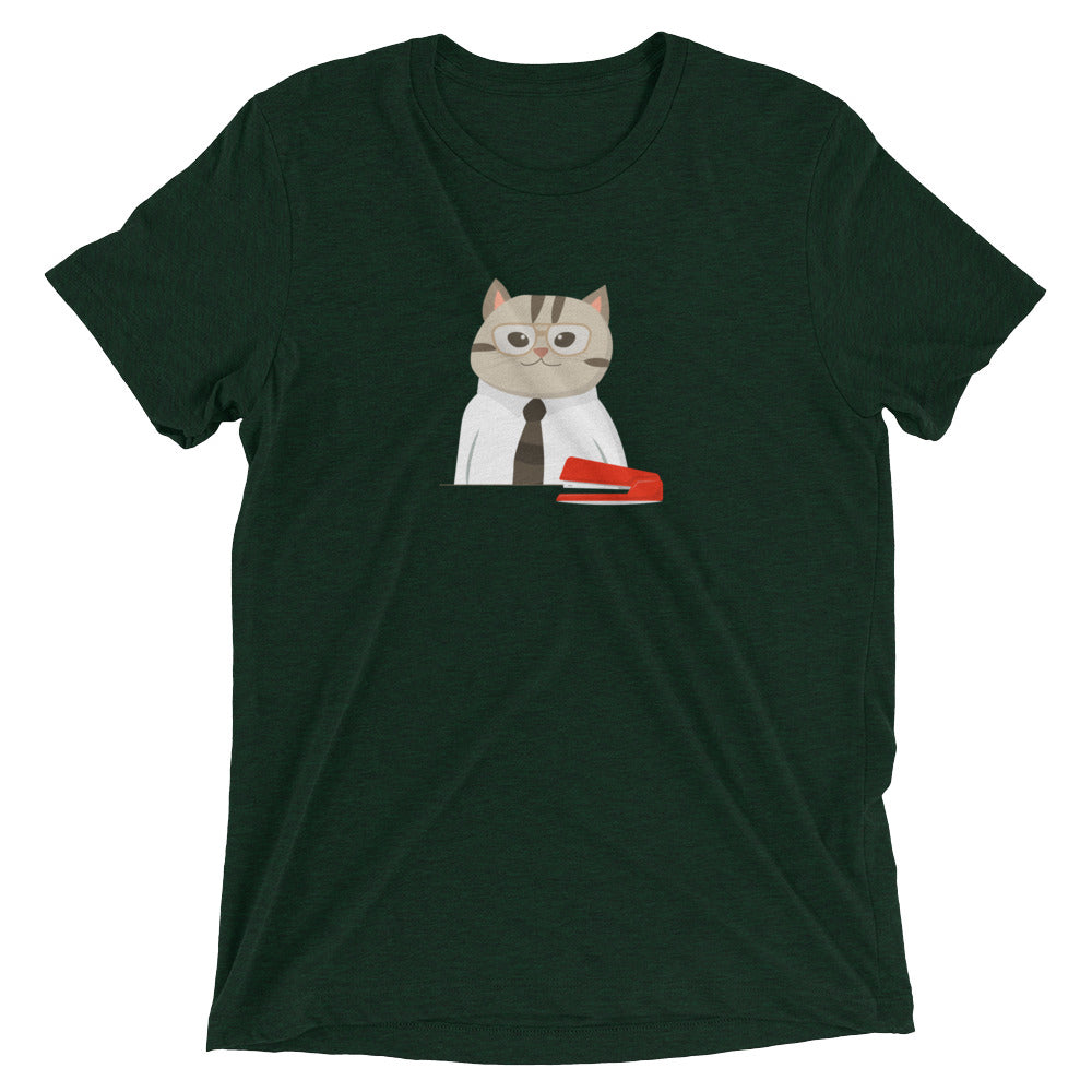 Milton Cat's Red Stapler T-Shirt