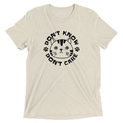 Don't Know Don't Care Cat T-Shirt
