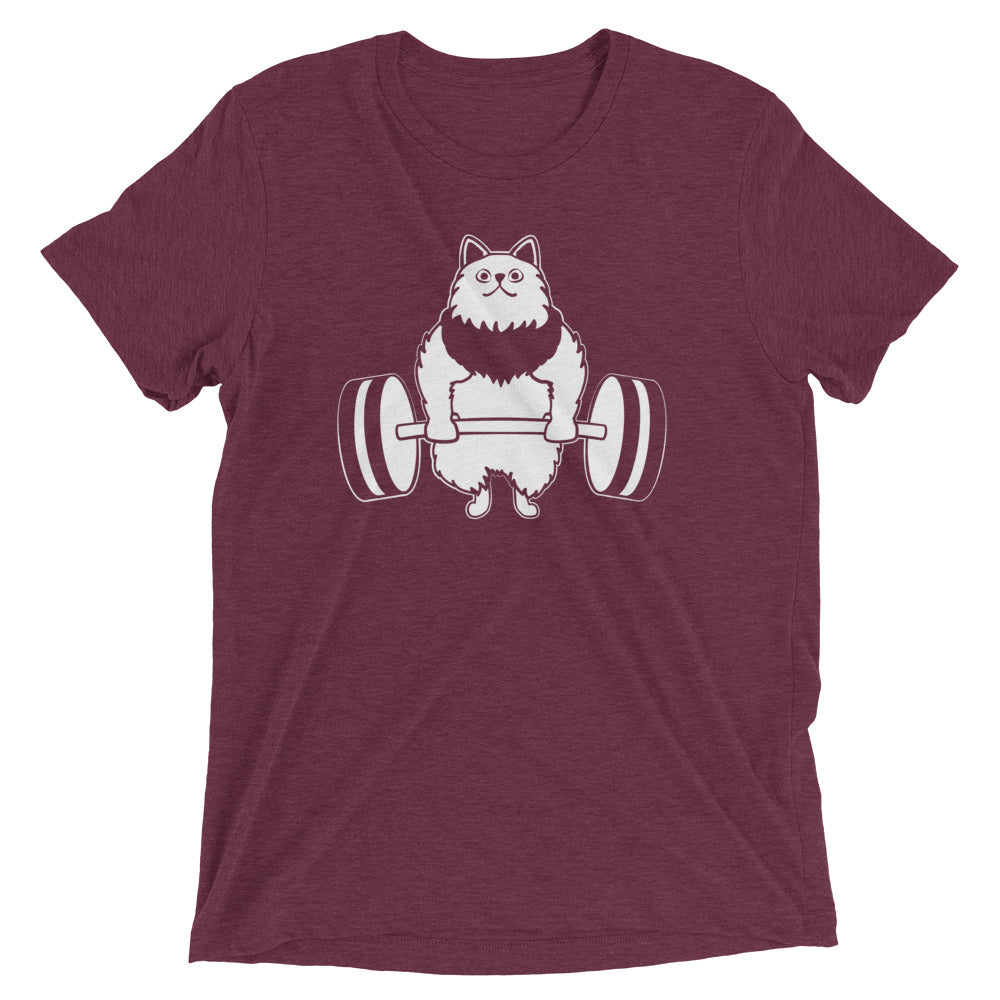 Deadlift Weightlifting Cat T-Shirt