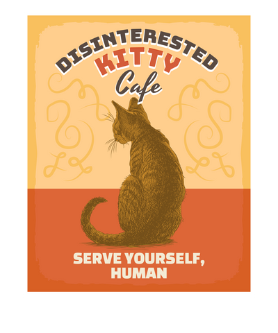 Disinterested Kitty Cafe T-Shirt