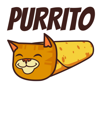 Purrito Cat Burrito T-Shirt