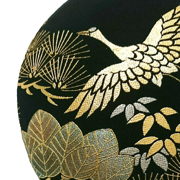 Hat, Japanese women fashion, Crane pattern in gold leaf