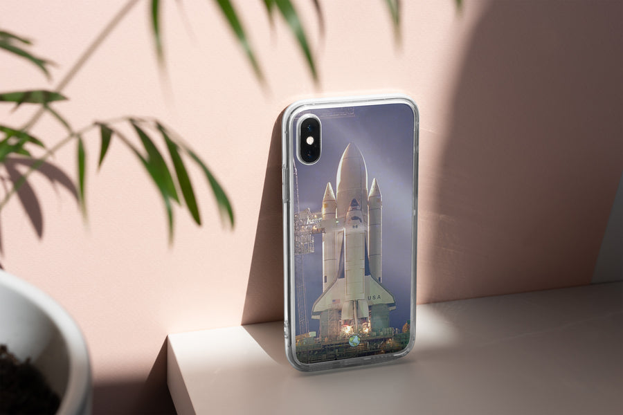 Space Shuttle at Night - iPhone Case