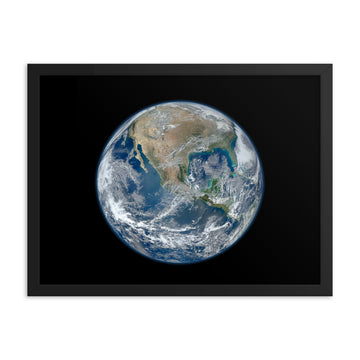Planet Earth North America - Framed Print