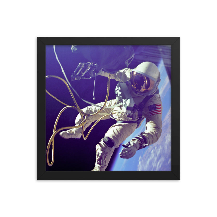 Humanity's First Spacewalk Framed Poster