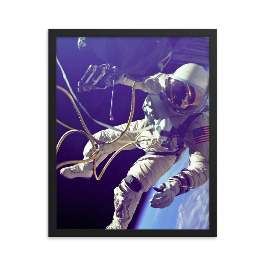 Humanity's First Spacewalk - Framed Print