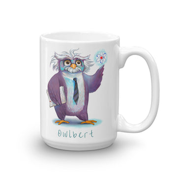 Owlbert Einstein - Coffee Mug