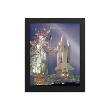 Space Shuttle at Night - Framed Print