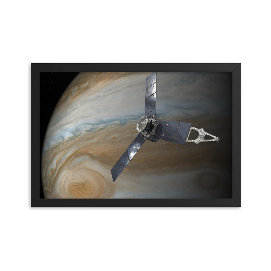 Juno Mission to Jupiter - Framed Print