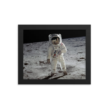 Buzz Aldrin Lunar Surface - Framed Print