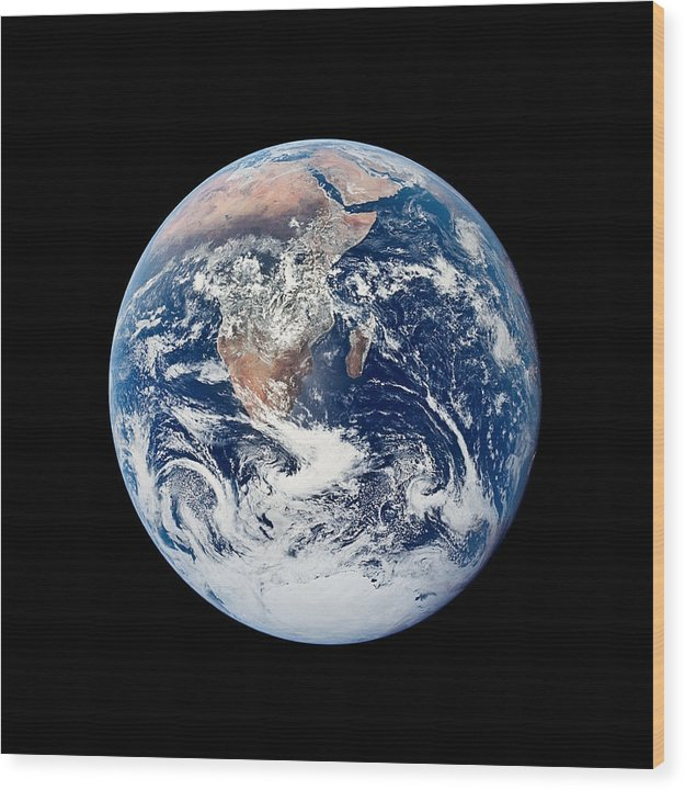 Our Pale Blue Dot - Wood Print