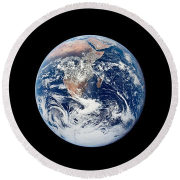 Our Pale Blue Dot - Round Beach Towel