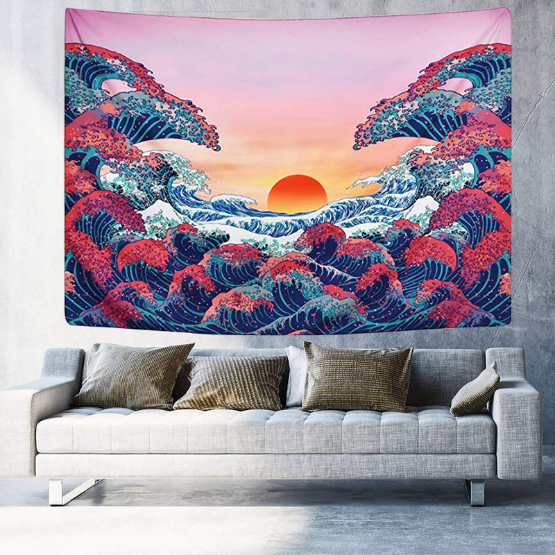 Japanese Sunset Tapestry