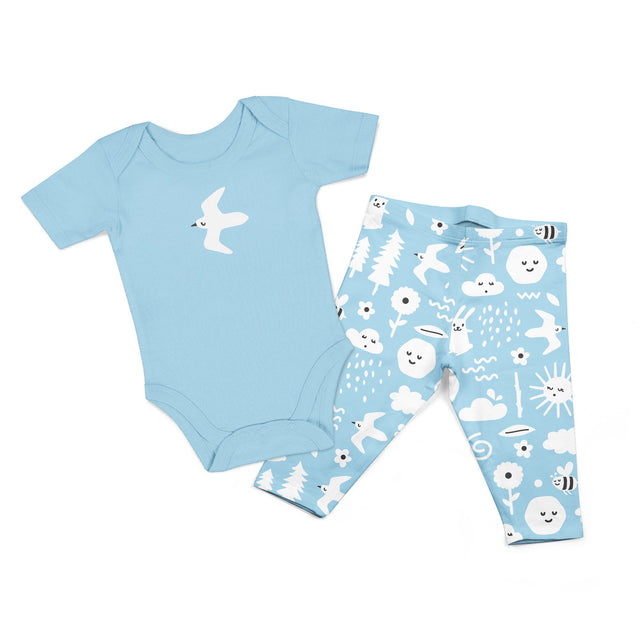 (Bundle) (Discount) Organic Cotton Bodysuit Set 2PK