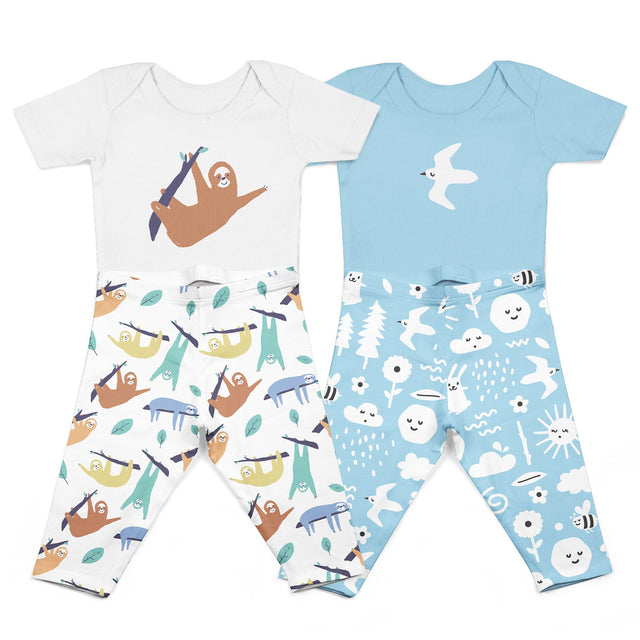 Organic Cotton Onesie Body Suit + Pant