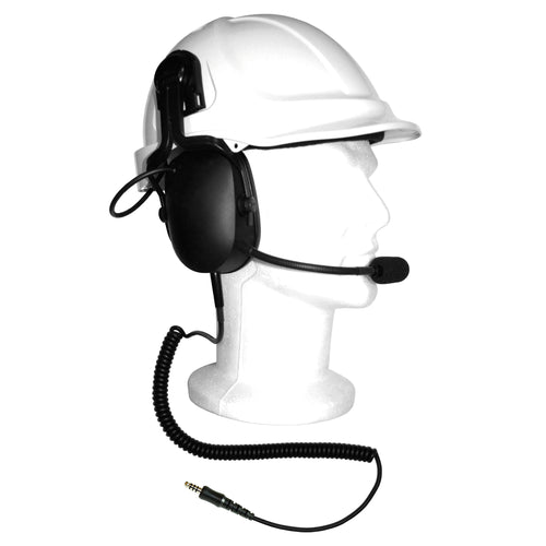 Heavy Duty Helmet Attachment Headset