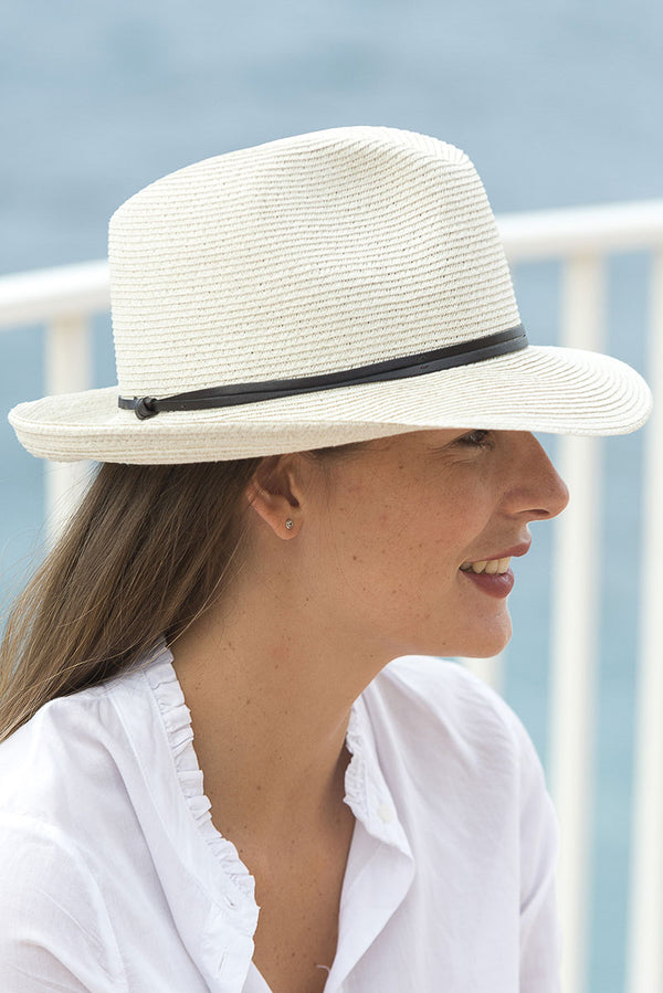 Foldable Borsolino Hat, Off White