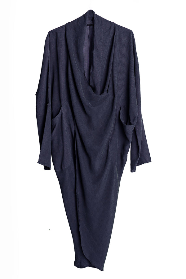 Murray Draped Dress, Ink Navy